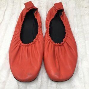 Women's Celine Paris red ballet flats size 40.5